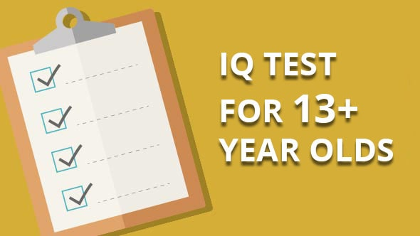iq test for 13 and 13 plus year olds
