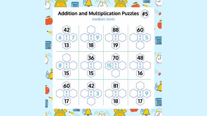 Addition and Multiplication Puzzles