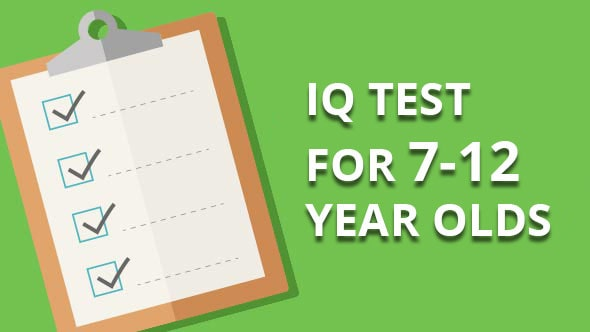 iq test for 7-12 year olds