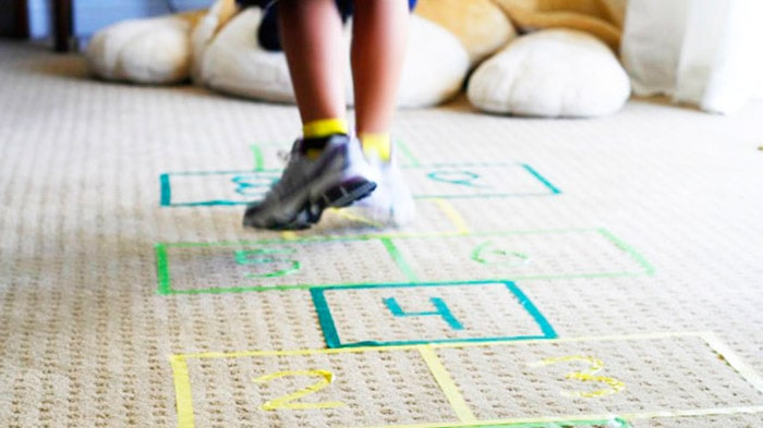 DIY Craft, Indoor Hopscotch