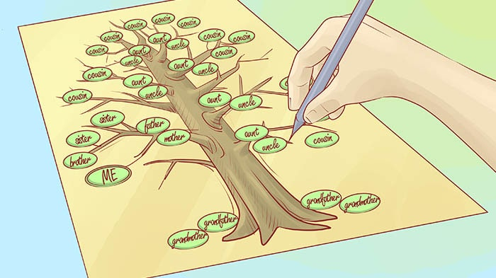 DIY ideas for kids, family tree