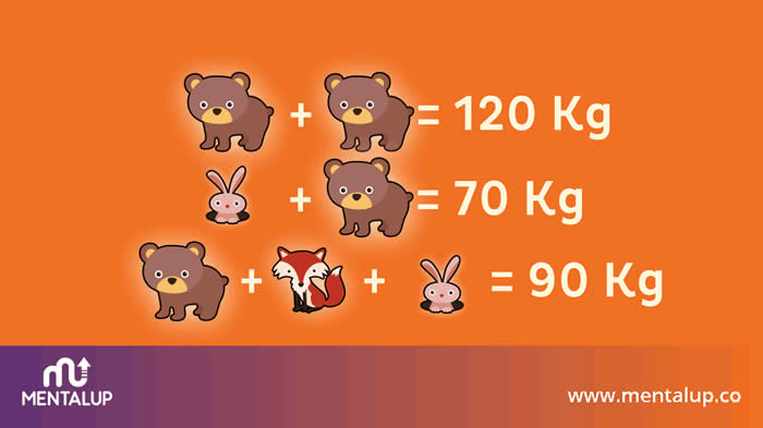 Math weight brain riddle