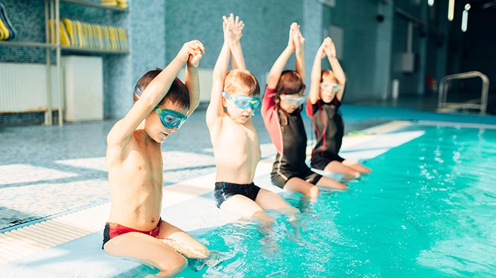 Physical education swimming children